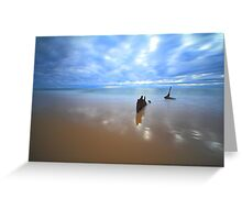 SS Dicky Shipwreck - Dicky Beach, Qld Greeting Card