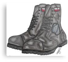 Polish MIA Boots Metal Print