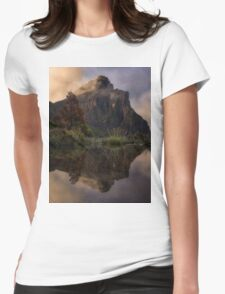 Mt Anne Reflections Womens Fitted T-Shirt
