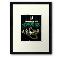 TMNT Campout Framed Print