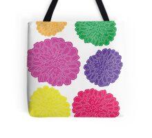 Multi-colored Chrysanthemums Tote Bag