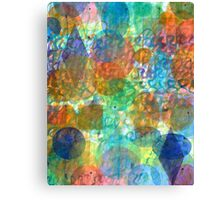 Bubbling Geometric Forms over Curved Lines Canvas Print