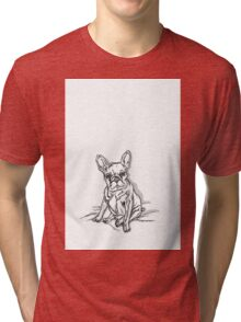 White Frenchie Tri-blend T-Shirt