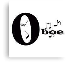 """""""Oboe"""" typography Canvas Print"""