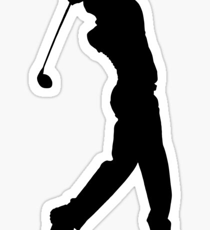 Pro Golfer Swinging Silhouette Sticker