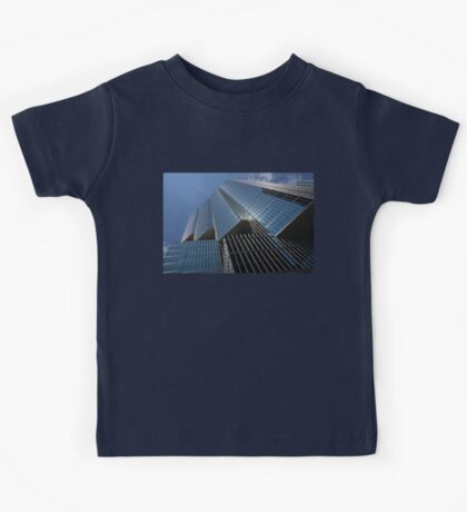 Silver Lines to the Sky - Downtown Toronto Skyscraper Kids Tee