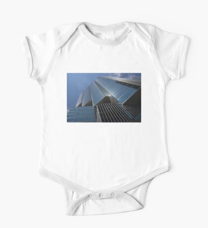 Silver Lines to the Sky - Downtown Toronto Skyscraper One Piece - Short Sleeve