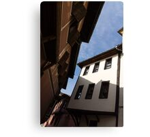 Sun and Shade - Elegant Revival Houses in Old Town Plovdiv, Bulgaria - Vertical Canvas Print