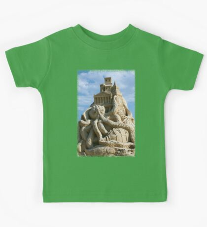 Sand Sculpture ~ a Tribute to Jules Verne Kids Tee