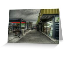 container shopping mall Greeting Card