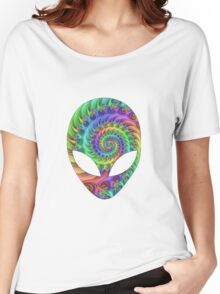 Trippy Alien Women's Relaxed Fit T-Shirt