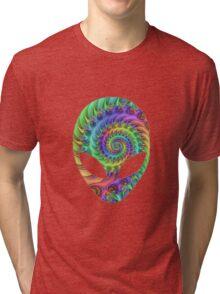 Trippy Alien Tri-blend T-Shirt