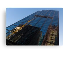 Reflecting on Skyscrapers - Downtown Atmosphere  Canvas Print