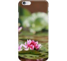 waterlily wildflower red lotus iPhone Case/Skin