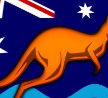 Kangaroo Oval  flag Sticker