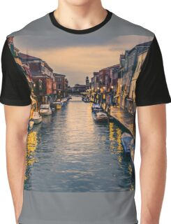 Murano Canal by night Graphic T-Shirt