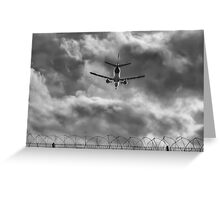 Through the airport fence Greeting Card