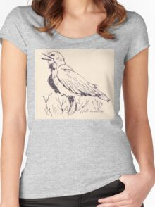 The Crow's song Women's Fitted Scoop T-Shirt