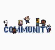 Community Logo with Characters Baby Tee