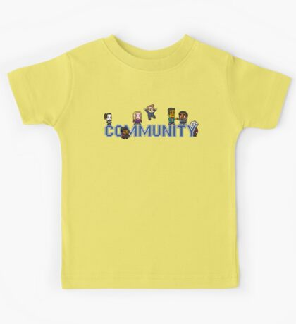 Community Logo with Characters Kids Tee