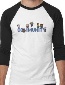 Community Logo with Characters Men's Baseball ¾ T-Shirt