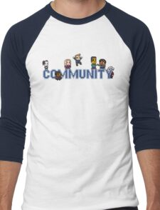 Community Logo with Characters Men's Baseball ¾ T-Shirt
