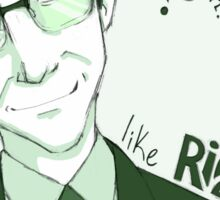 The Riddle Man Sticker