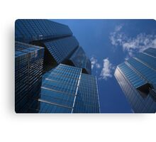 Oh So Blue - Downtown Toronto Skyscrapers Canvas Print
