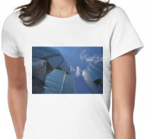 Oh So Blue - Downtown Toronto Skyscrapers Womens Fitted T-Shirt