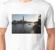 Sailing Up the Thames River in London, UK Unisex T-Shirt