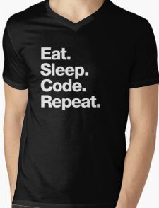 Eat. Sleep. Code. Repeat. Mens V-Neck T-Shirt