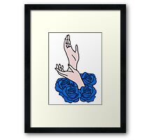 Hands and roses Framed Print