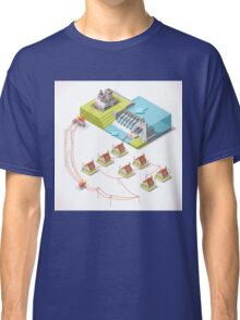 Energy Hydroelectric Power Isometric Classic T-Shirt