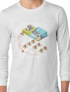 Energy Hydroelectric Power Isometric Long Sleeve T-Shirt