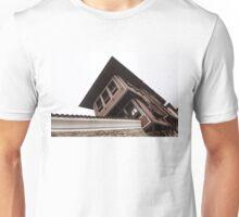 White Trimmed Classic Revival House Against White Sky Unisex T-Shirt