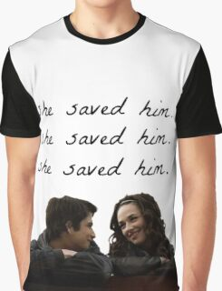 teen wolf - she saved him Graphic T-Shirt