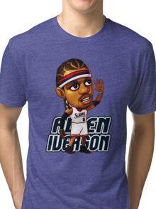 Allen Iverson Cartoon Tri-blend T-Shirt