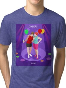Team Party Best Friends Tri-blend T-Shirt