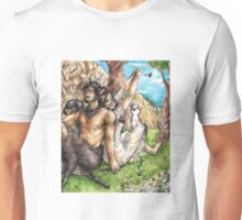 Nymph and Faun 3 Unisex T-Shirt