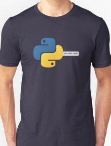 Python hello, world! program T-Shirt