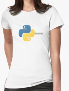 Python hello, world! program Womens Fitted T-Shirt