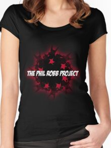 The Phil Robb Project - Red Glow Logo Women's Fitted Scoop T-Shirt