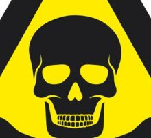 Skull Danger Zone logo original sticker Sticker