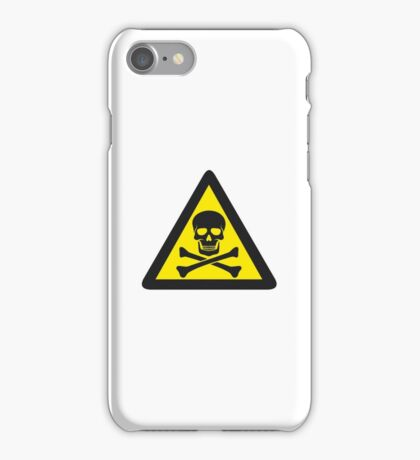 Skull Danger Zone logo original sticker iPhone Case/Skin