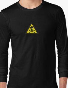 Skull Danger Zone logo original sticker Long Sleeve T-Shirt