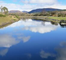 Reflections on the Caledonian canal Sticker