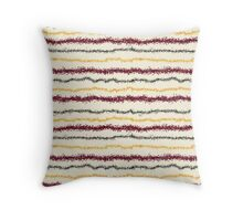 Brown Leafy Line Pattern Throw Pillow