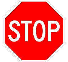 STOP original sign sticker Photographic Print