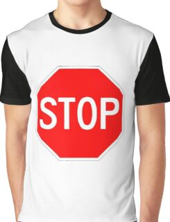 STOP original sign sticker Graphic T-Shirt