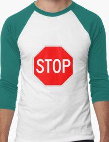 STOP original sign sticker Men's Baseball ¾ T-Shirt